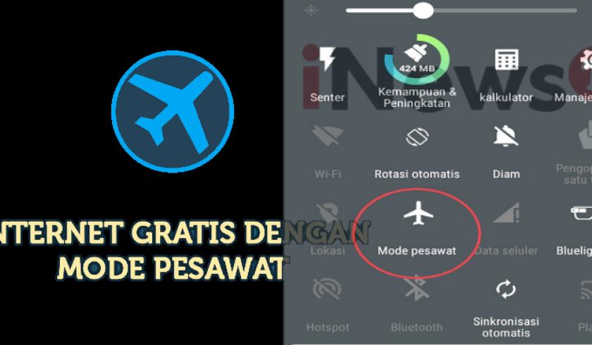 Cara Internet Gratis Mode Pesawat di HP Android/iOs