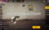 Skin Kitty Black Tuxedo Anniversary Free Fire Gratis