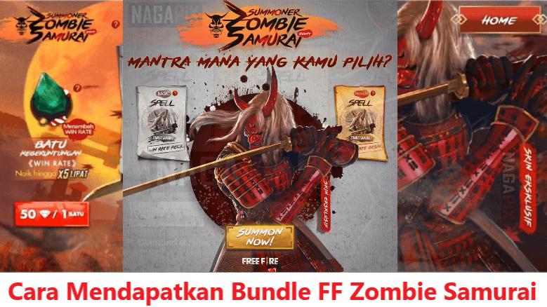 Cara Mendapatkan Bundle Zombie Samurai FF Terbaru