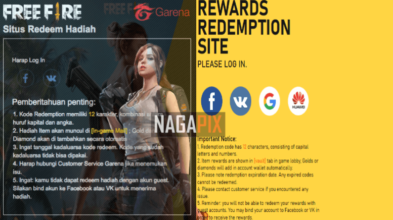 Reward FF Garena Com, Kode Redeem FF Terbaru 2020