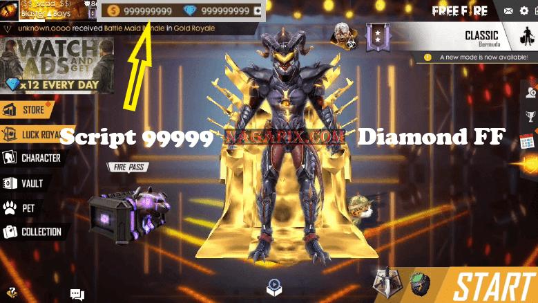 Script 99999 Diamond FF Gratis Terbaru 2020 (Working)