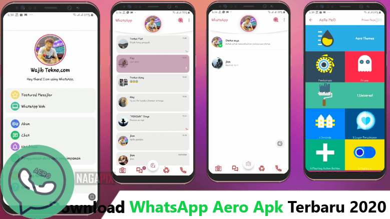 WhatsApp Aero v8.12 Apk Terbaru 2020 (MOD-Anti Bann)