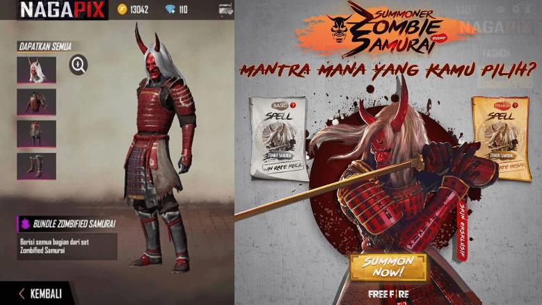 Zombie Samurai Free Fire Terbaru 2020 Permanen & Gratis