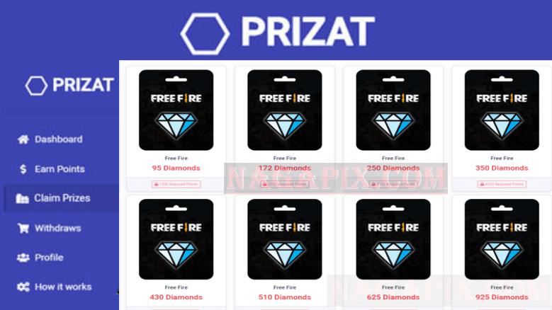 Prizat FF Free Fire, Simple & Mudah Hasilkan Diamond FF