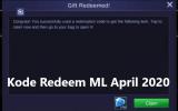 Kode Redeem ML Terbaru April 2020 Masih Aktif (Hari Ini)