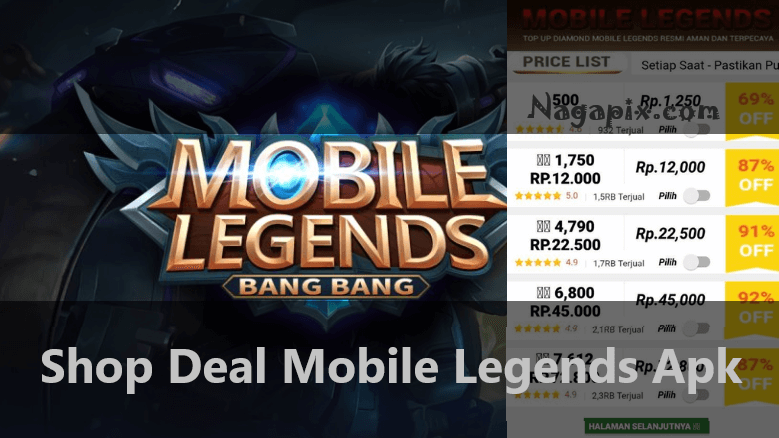 Shop Deal Mobile Legends Apk, Diamond ML Harga Murah