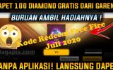 Https Kode Redeem Free Fire Juli 2020 Hari Ini Masih Aktif