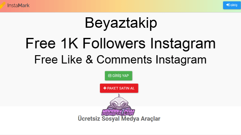 Beyaztakip com - Free Followers 1K Instagram ! Works !