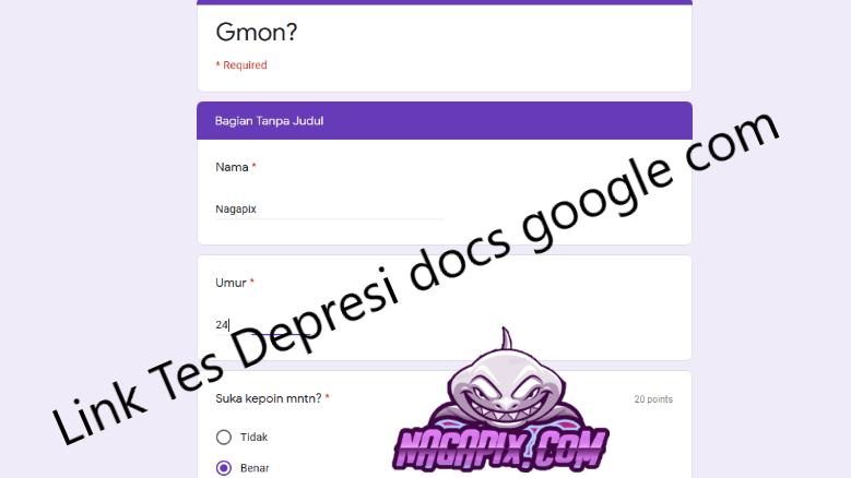Link Tes Depresi Docs Google com yang Sedang Viral !