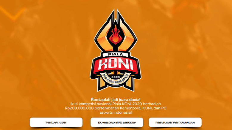 Pialakoni2020 com - Piala KONI 2020 Berhadiah Rp 200jt
